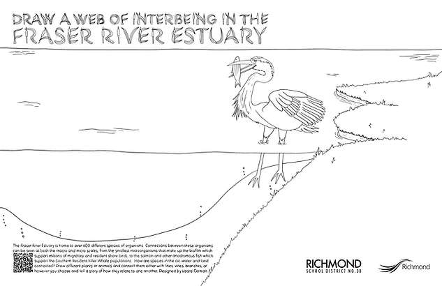 DRAW A WEB OF INTERBEING IN THE FRASER RIVER ESTUARY