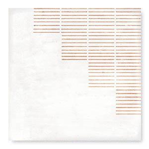 "Chateau White Gloss Lines 7"" x 7"""
