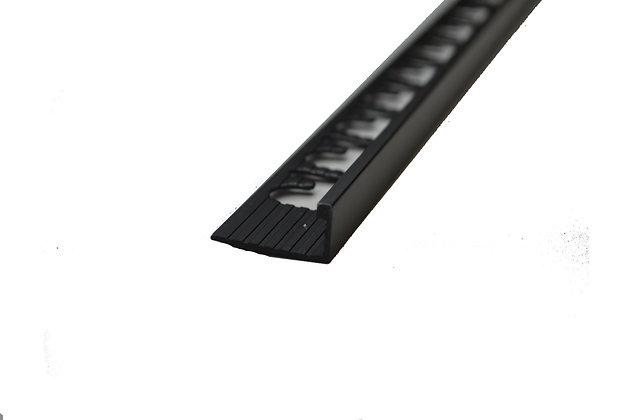 """3/8"""" x 8' 10"""" Metal Trim L Shape Black Matte (10mm)"""