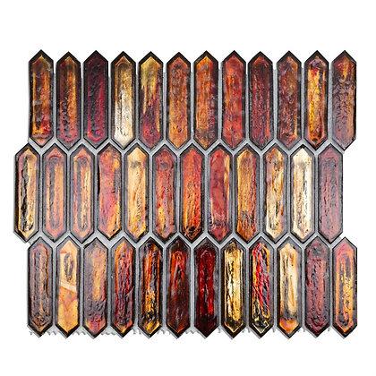Art Glass Burnt Orange