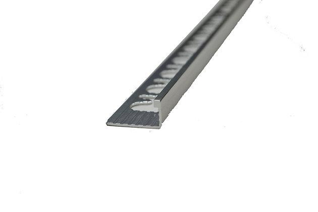 "3/8"" x 8' 10"" Metal Trim L Shape Chrome Brushed (10mm)"