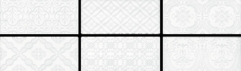 """Chantilly Maiolica White Deco 4"""" x 10"""""""