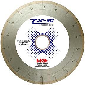 """MK-TX Tile Blade 1"""" Arbor (for MK TX wet saw)"""