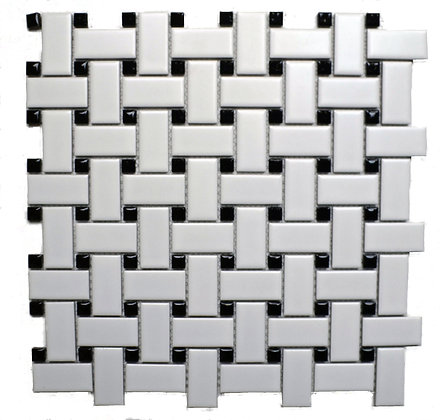 Basketweave White/Black