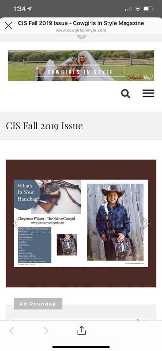Cowgirls In Style Magazine