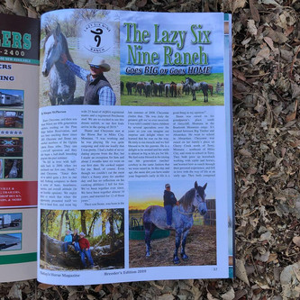 Lazy Six Nine Ranch...Goes Big or Goes Home (as seen in Today's Horse Magazine)