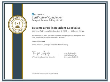 Public Relations Specialist Certification