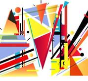 Abstract Graphic Digital Art Design
