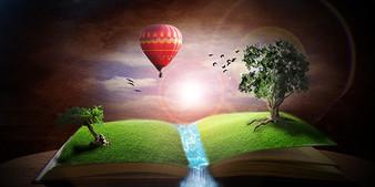 Book World Digital Art Design