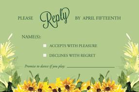 Wedding Reply Card Design