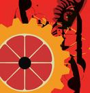 Clockwork Orange Abstract Graphic Digital Art Design