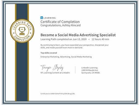 Social Media Advertising Specialist Certification