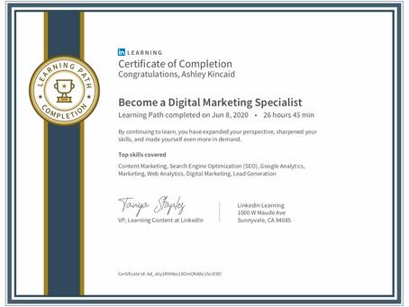 Digital Marketing Specialist Certification