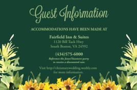 Wedding Guest Information Card Design