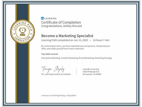 Marketing Specialist Certification