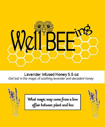 Lavender Infused Honey 5.5 oz
