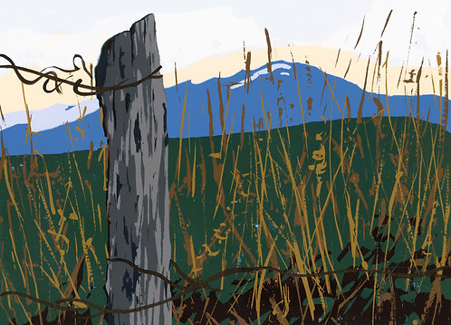 Bridgers, Bozeman, Montana, Print