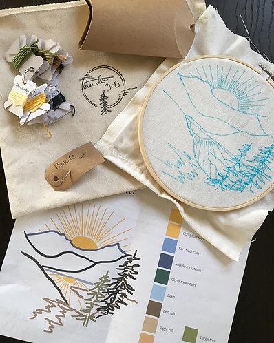 Lava Lake, Montana Embroidery Kit