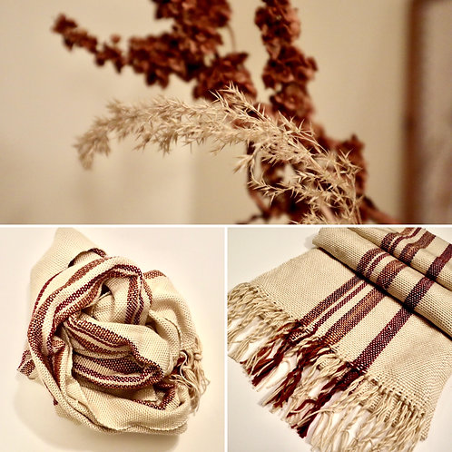 Dried Leaves Hand Woven Scarf