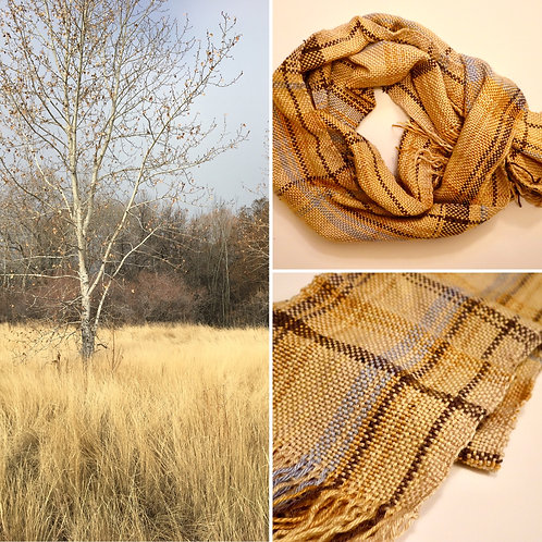 Mountain Fall Morning Hand Woven Scarf