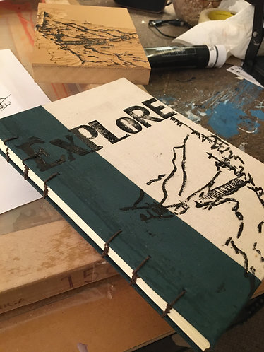 Green Explore Sketchbook/Journal