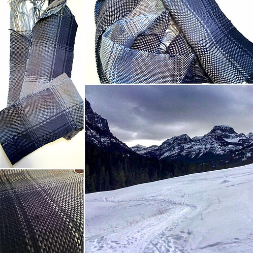 Hyalite Winter Hand Woven Scarf