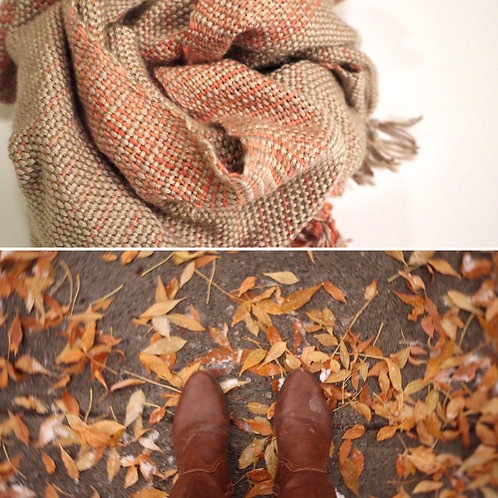 Madder Root Hand Woven Scarf