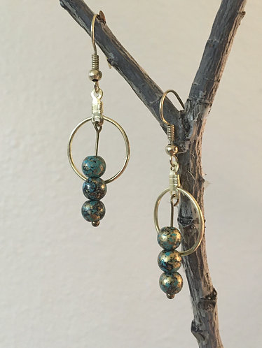 Gold Moss Earrings