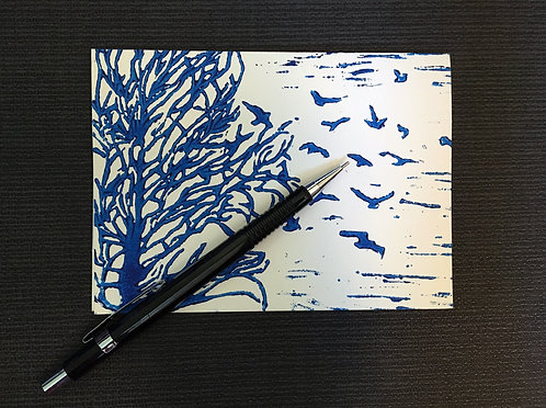 Branches to Feathers Notecard