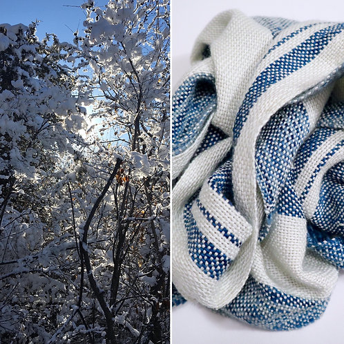 Winter Skies Hand Woven Scarf