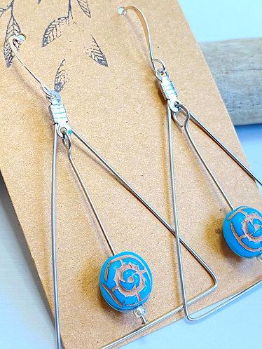 Moonlit Flower Earrings