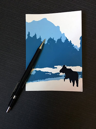 Winter's Stroll Notecard