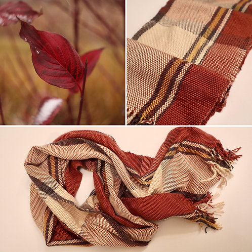 Shades of Fall Hand Woven Scarf