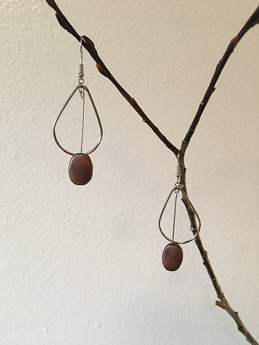 Metal Teardrop Earrings