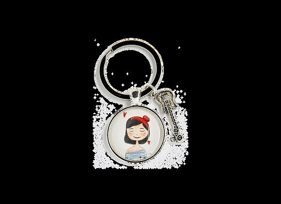 """Schlüsselring mit Anhänger - """"Charlott"""""""