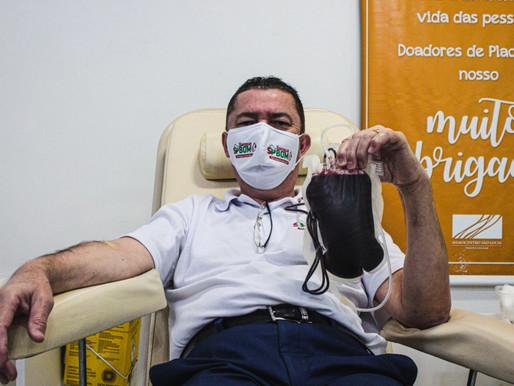 Junho Vermelho | Vereador Sansão Pereira mobiliza voluntários para doação de sangue