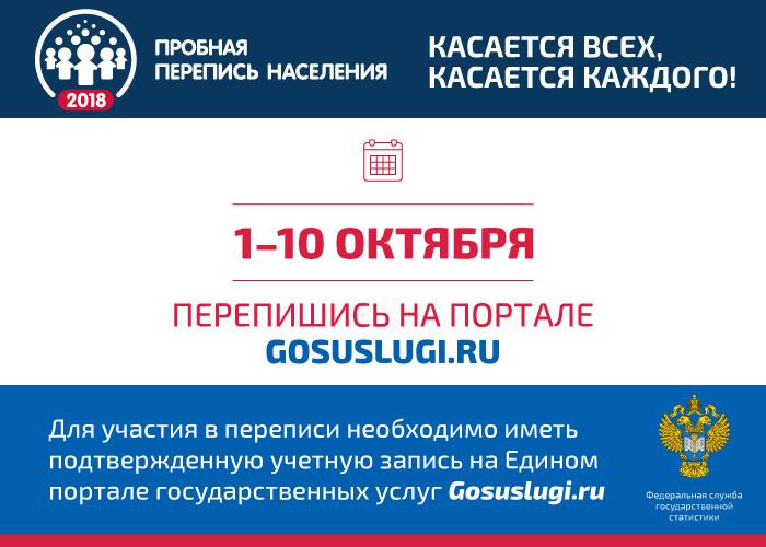 Пробная перепись населения, которая пройдет в России в октябре 2018 года