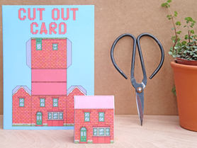 Cut Out House Card