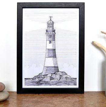 Smeatons Tower - Plymouth A4 print .jpg