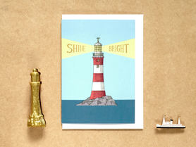 Shine Bright Lighthouse Card