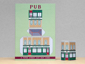 Paper Street Cut Out Cards: The Pub