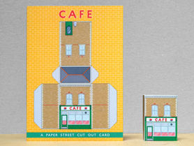 Paper Street Cut Out Cards: The Cafe