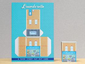 Paper Street Cut Out Cards: The Landerette