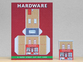 Paper Street Cut Out Cards: The Hardware Store