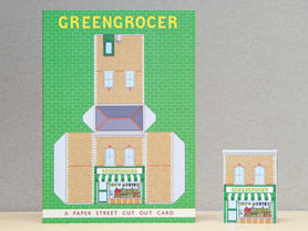 Paper Street Cut Out Cards: the Green Grocer