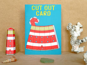 Cut Out Lighthouse Card