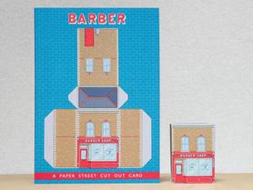 Paper Street Cut Cut Cards: The Barber