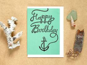 Happy Birthday Anchor Card