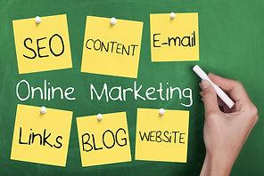 Stock_Online Marketing Chalkboard_shutte