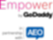Logo_Empower By GoDaddy with partnership